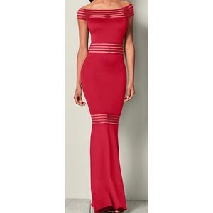 Dresses & Skirts - Elegant Red Mermaid Fit Flare Evening Gown Dress